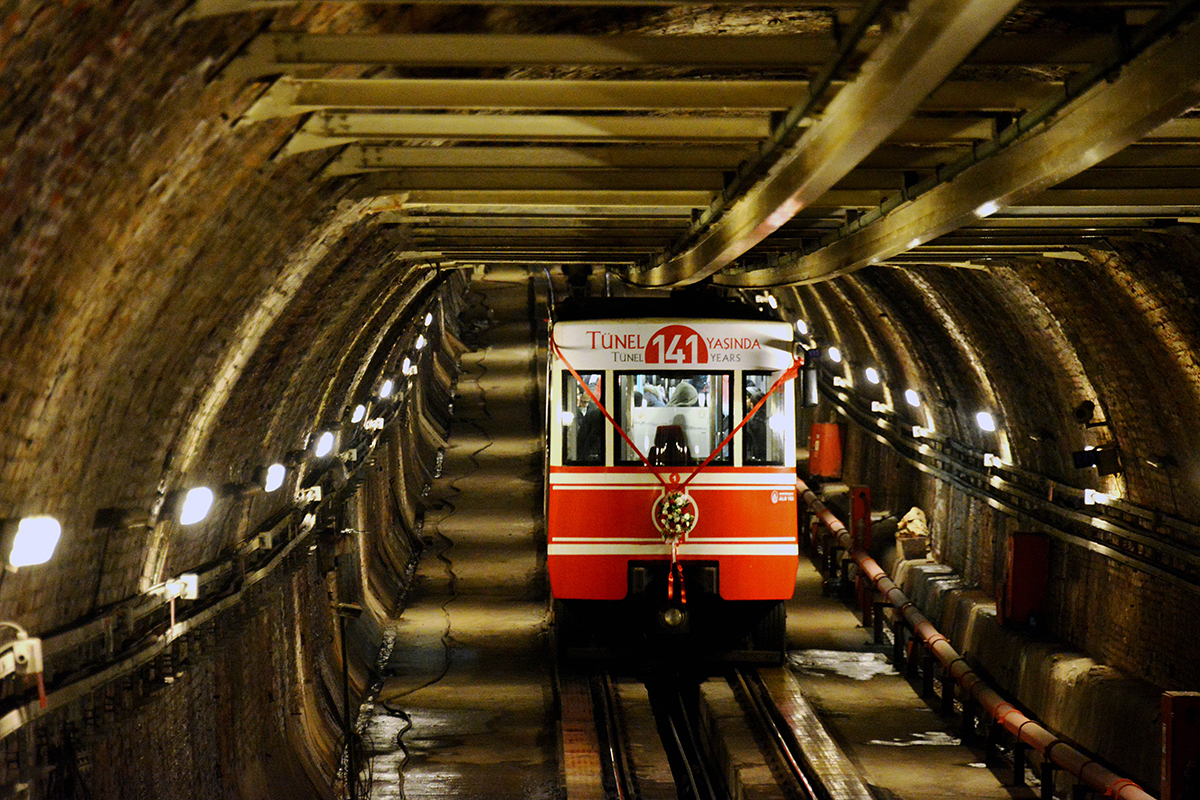 #18 —Karaköy Tunnel - A celebration of the 141st anniversary of the tram link between Karaköy and Beyoğlu that opened in Istanbul in 1875.