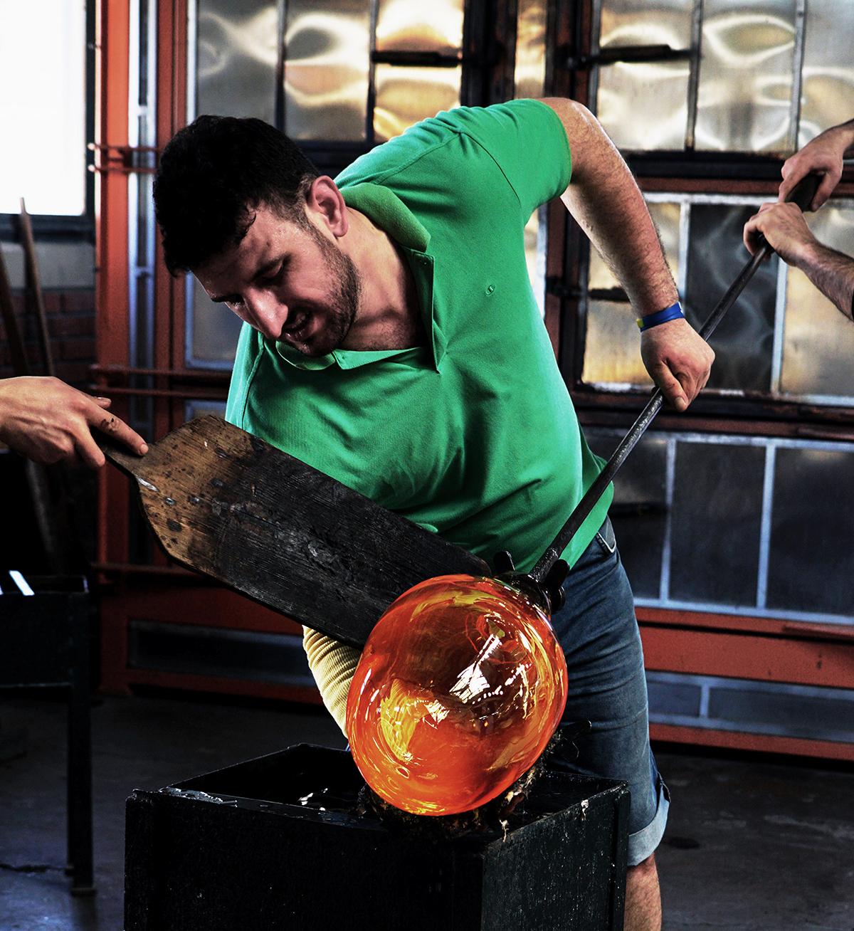 #71 —Beykoz – The Glassblowers' Foundation. This glass artisan Mehmet Kömürcü has 20 years' experience in the job.