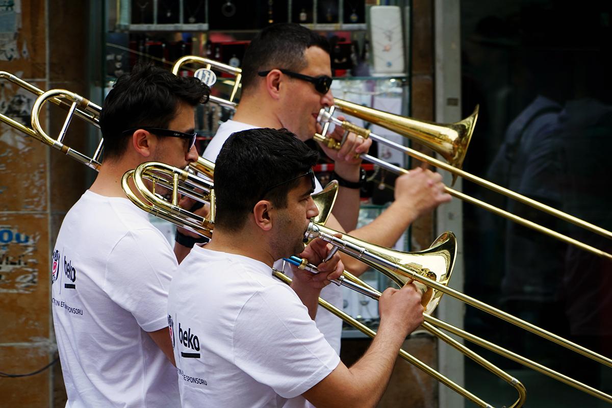 Day 120 —Beşiktaş -  A street concert in Beşiktaş market.