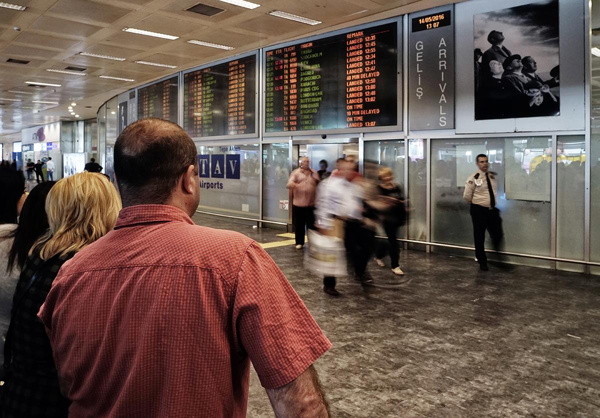 #135 —Yeşilköy –  International arrivals.