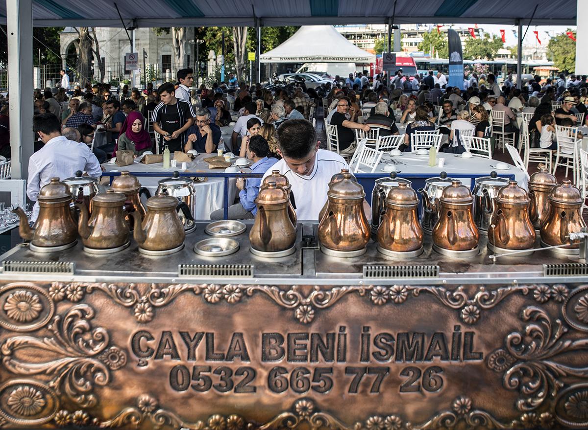 "Day 169 —Beşiktaş -  The ""iftar"" (breaking the daily fast) tent of Beşiktaş Municipality."