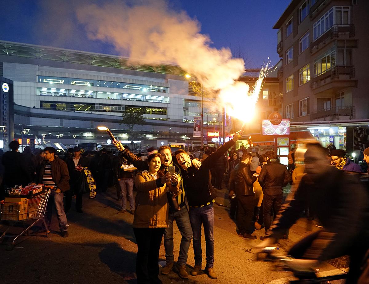 Day 338 —Kadıkoy –  The Fenerbahçe Şükrü Saraçoğlu Stadium Derby day excitement. Fenerbahçe 0 – 0 Beşiktaş.